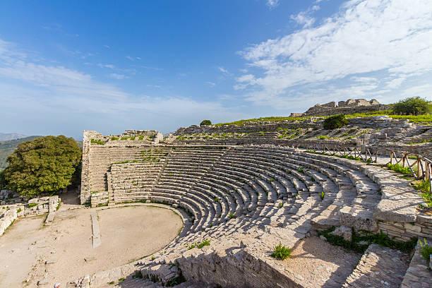 Segesta Sizilien, Italien (griechisches Theater – Foto