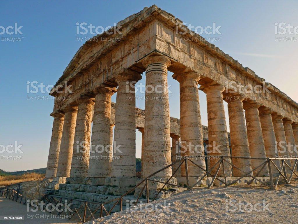 Segesta Temple stock photo