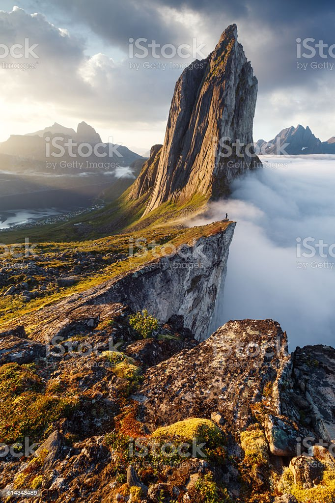 Segla peak in Norway stock photo