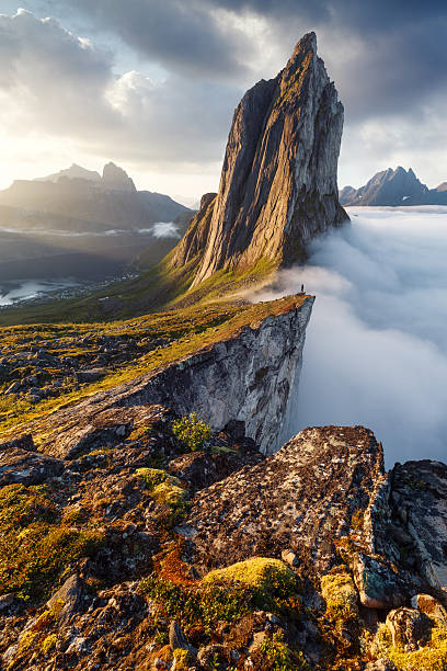 Segla peak in Norway - foto de acervo