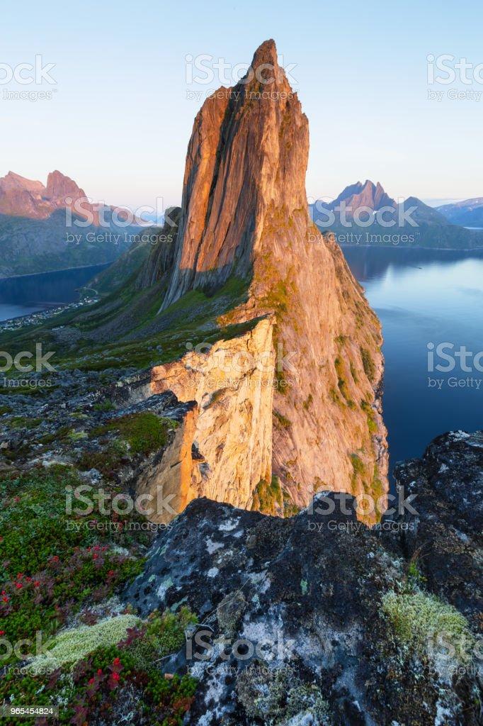 Segla Peak on Senja in Troms, Norway royalty-free stock photo