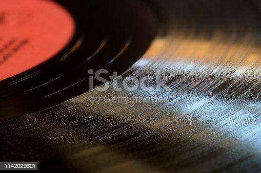 istock Segment of vinyl record. 1142029621