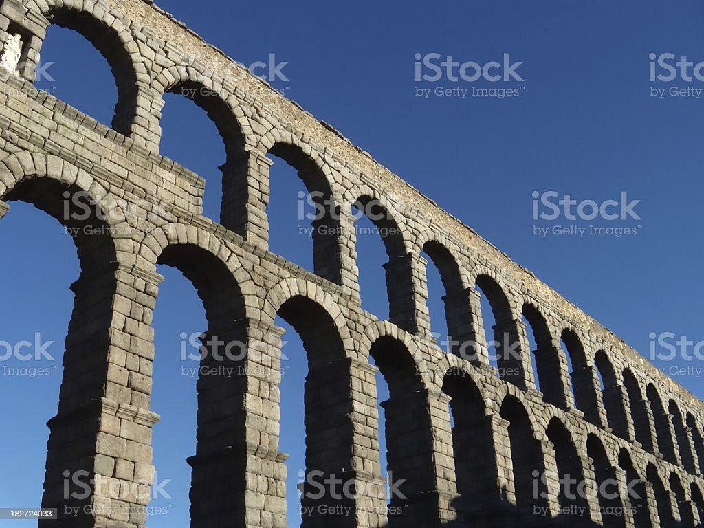 Segovia aqauduct stock photo