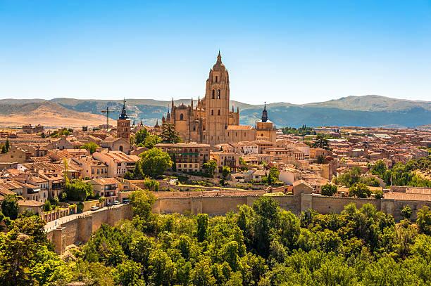 Segovia Cathedral Spain stock photo