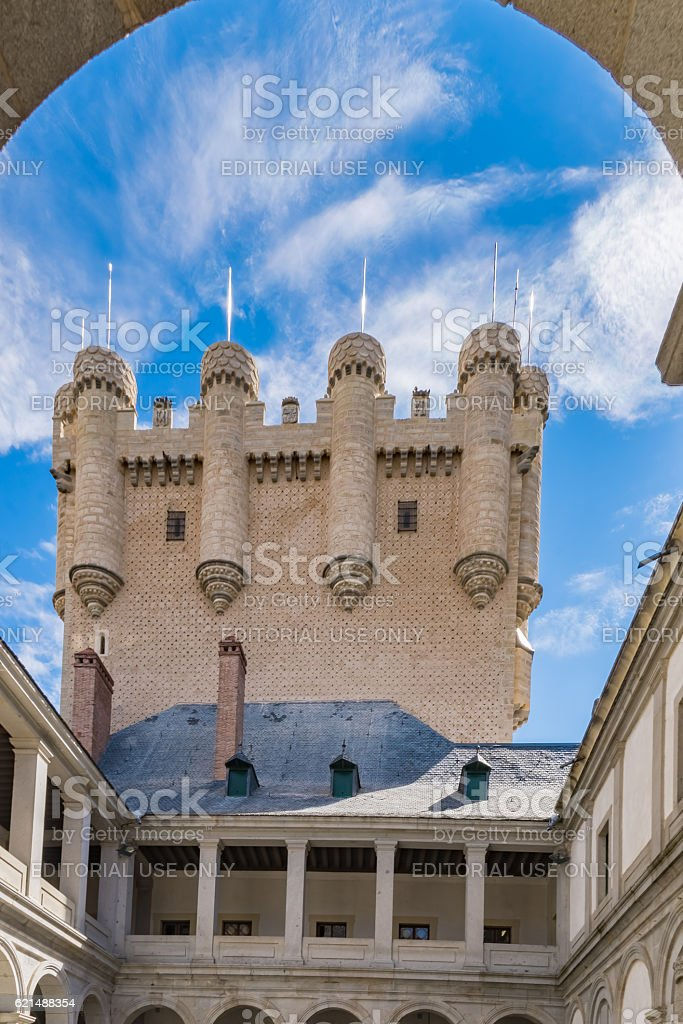 Segovia Fortress foto stock royalty-free