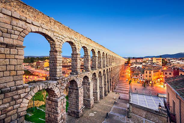 Segovia, Spain Aqueduct stock photo