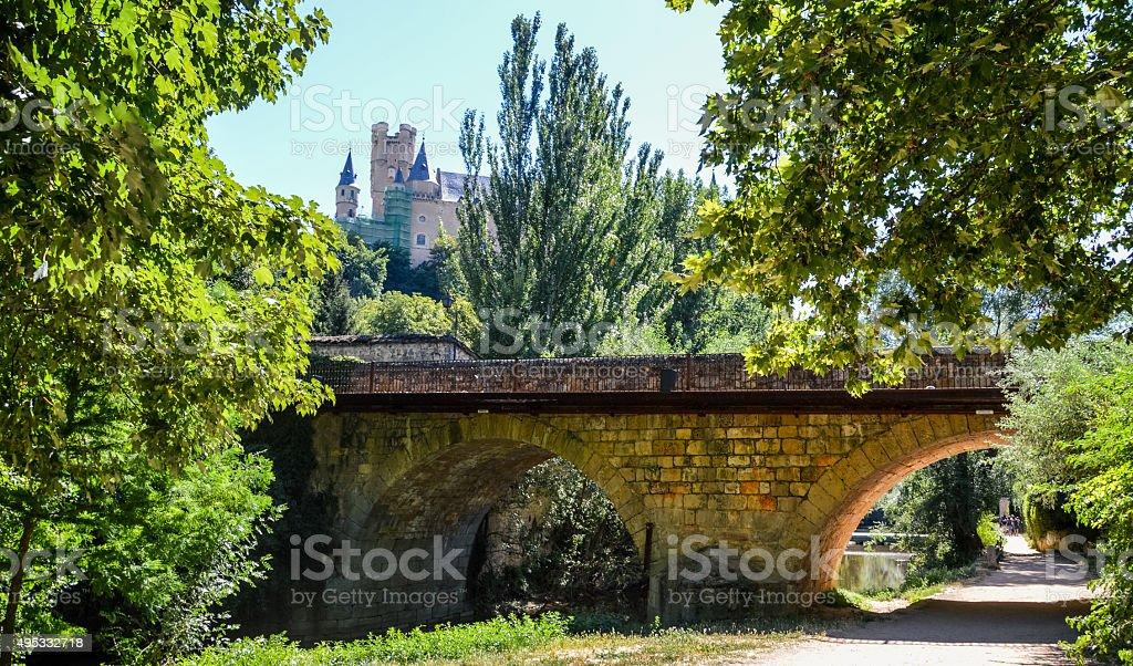 Segovia, Spain - Riverside stock photo