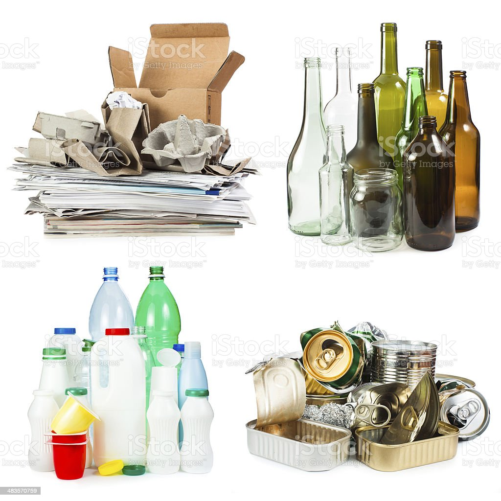 Segregated garbage stock photo