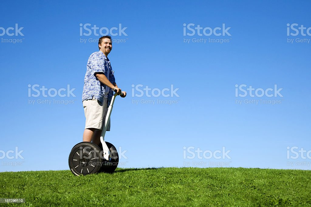 Segway Fun royalty-free stock photo
