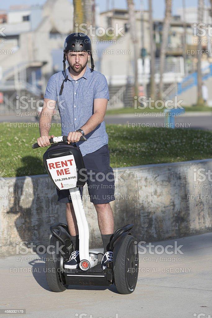 Segway Rider royalty-free stock photo