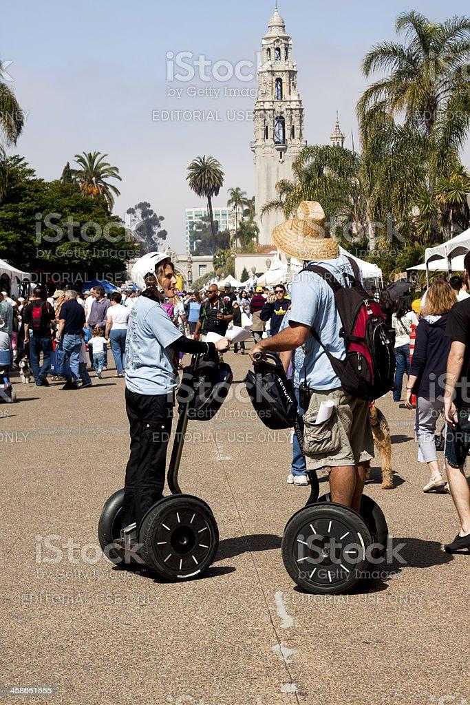 Segway Riders royalty-free stock photo