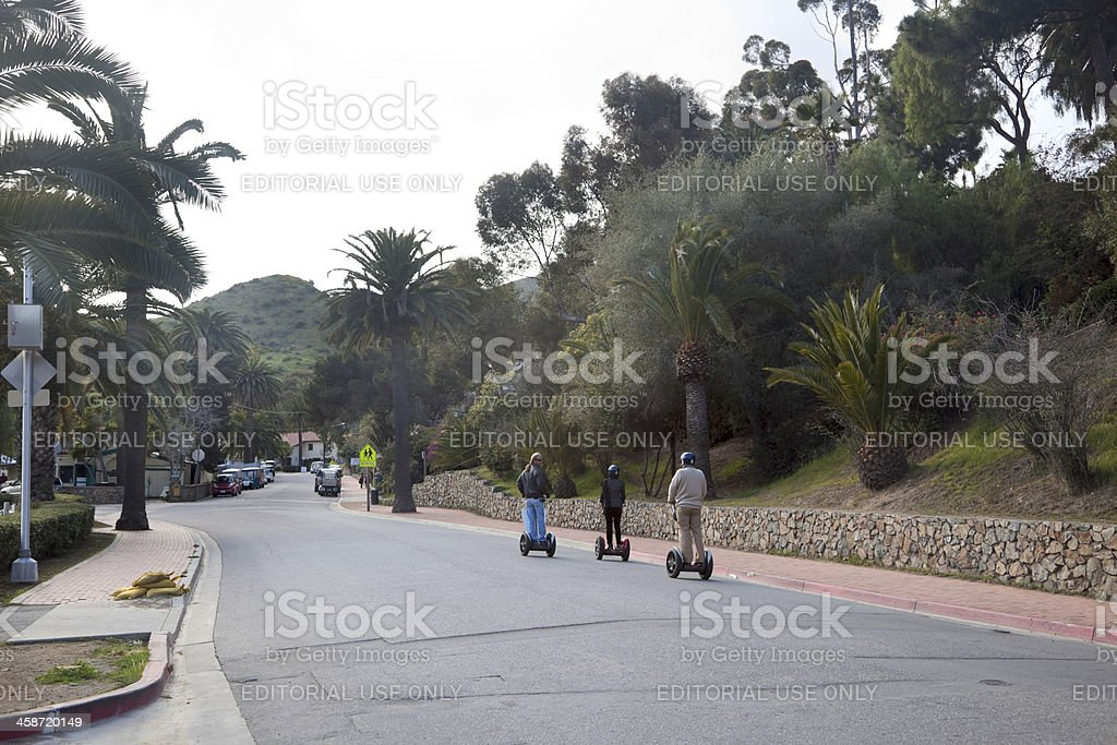 Segway Tour in Avalon, Catalina Island royalty-free stock photo