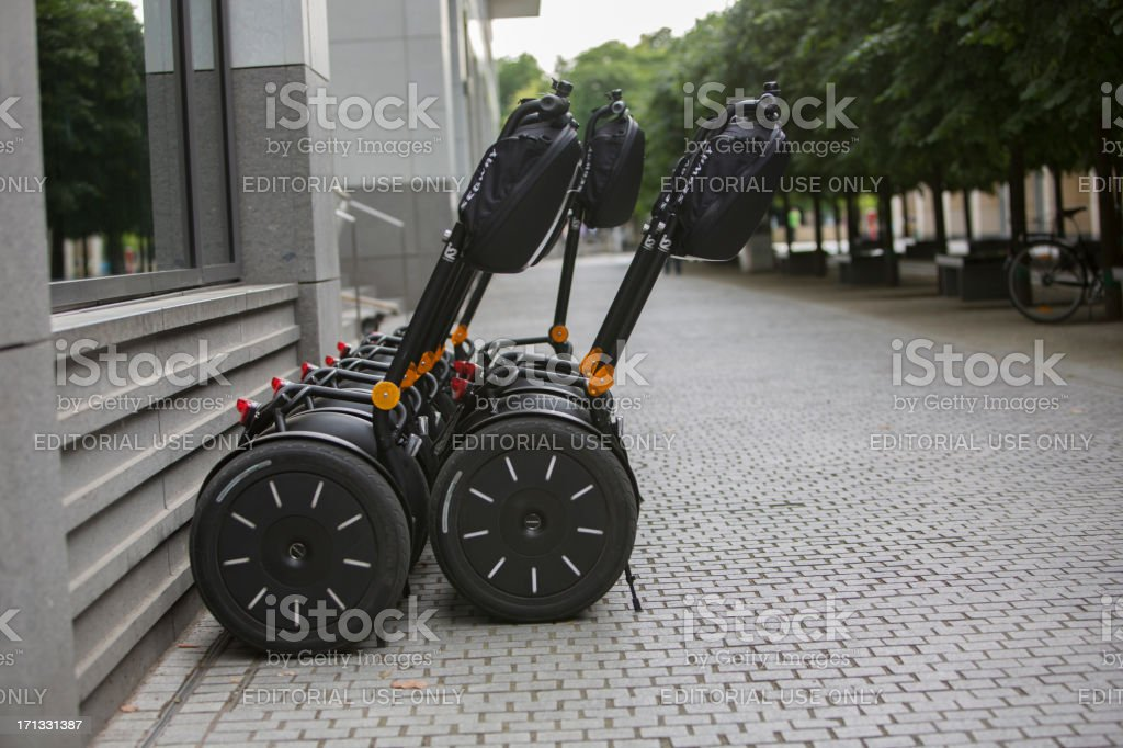 Segway Transporters royalty-free stock photo
