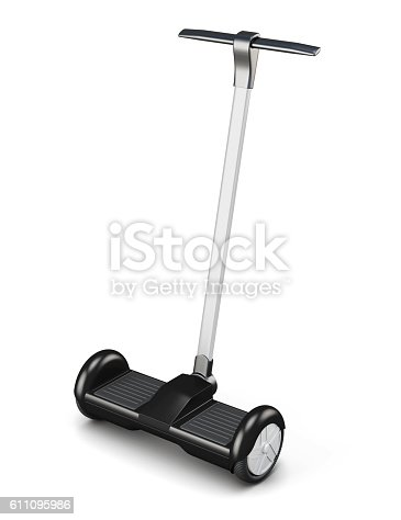 istock Segway with handle isolated on a white background. 3d rendering. 611095986