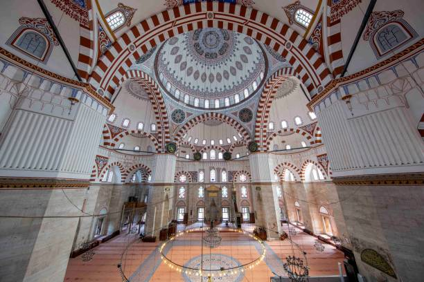 Sehzade mosque in Istanbul, Turkey stock photo