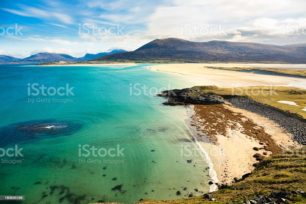 Seilebost Beach stock photo
