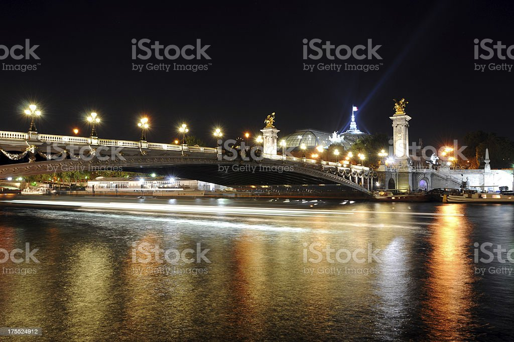 Seine River and Pont Alexander III - XLarge royalty-free stock photo