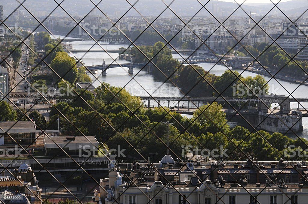 Seine River as seen from the Eiffel Tower royalty-free stock photo
