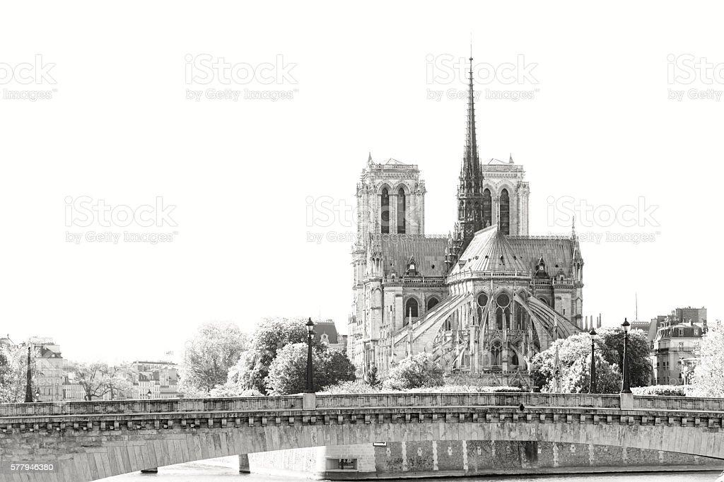 Seine river landscape stock photo