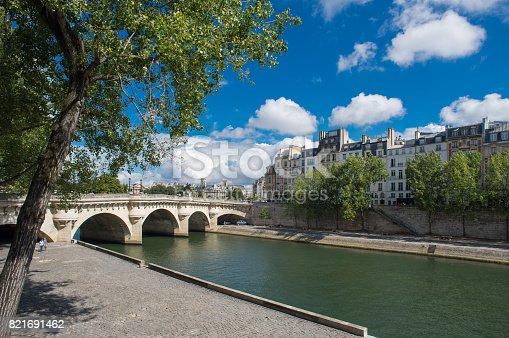 istock Seine river landscape 821691462