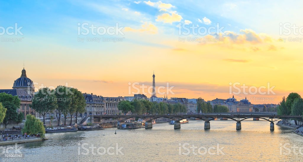 Seine River, Paris stock photo