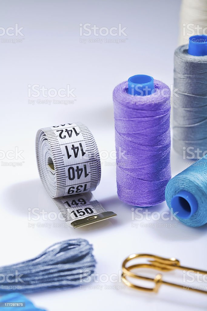 seing items on white background stock photo