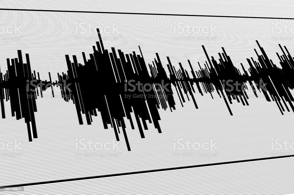 Seismic  diagram stock photo