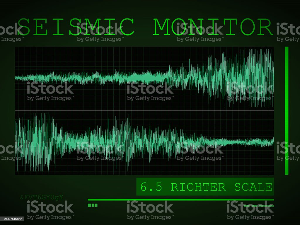 Seismic Monitor stock photo