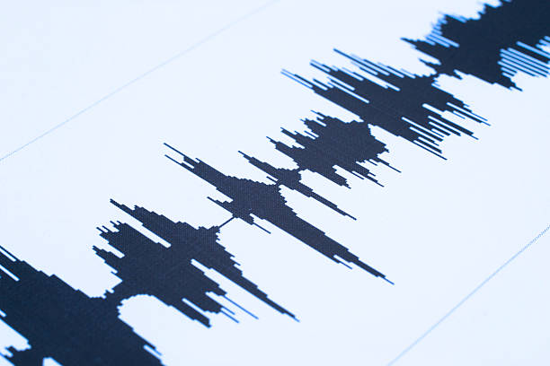 seismic  sound wave - audio wave stock photos and pictures