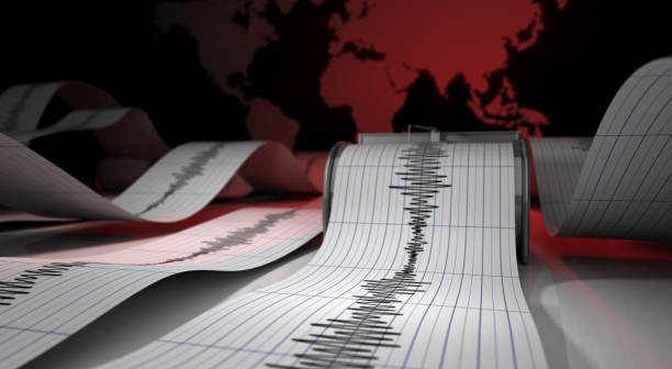 Seismic Waves stock photo