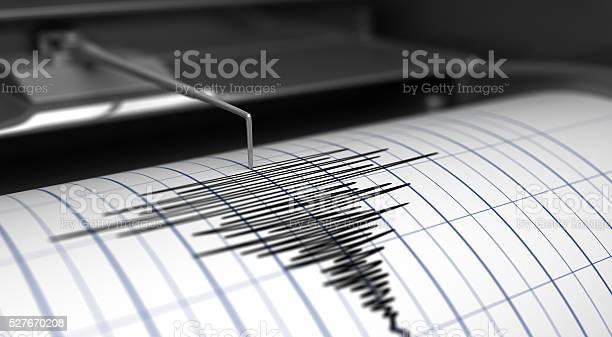Seismograph And Earthquake Stock Photo - Download Image Now