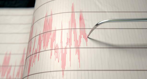 Sismógrafo terremoto actividad - foto de stock