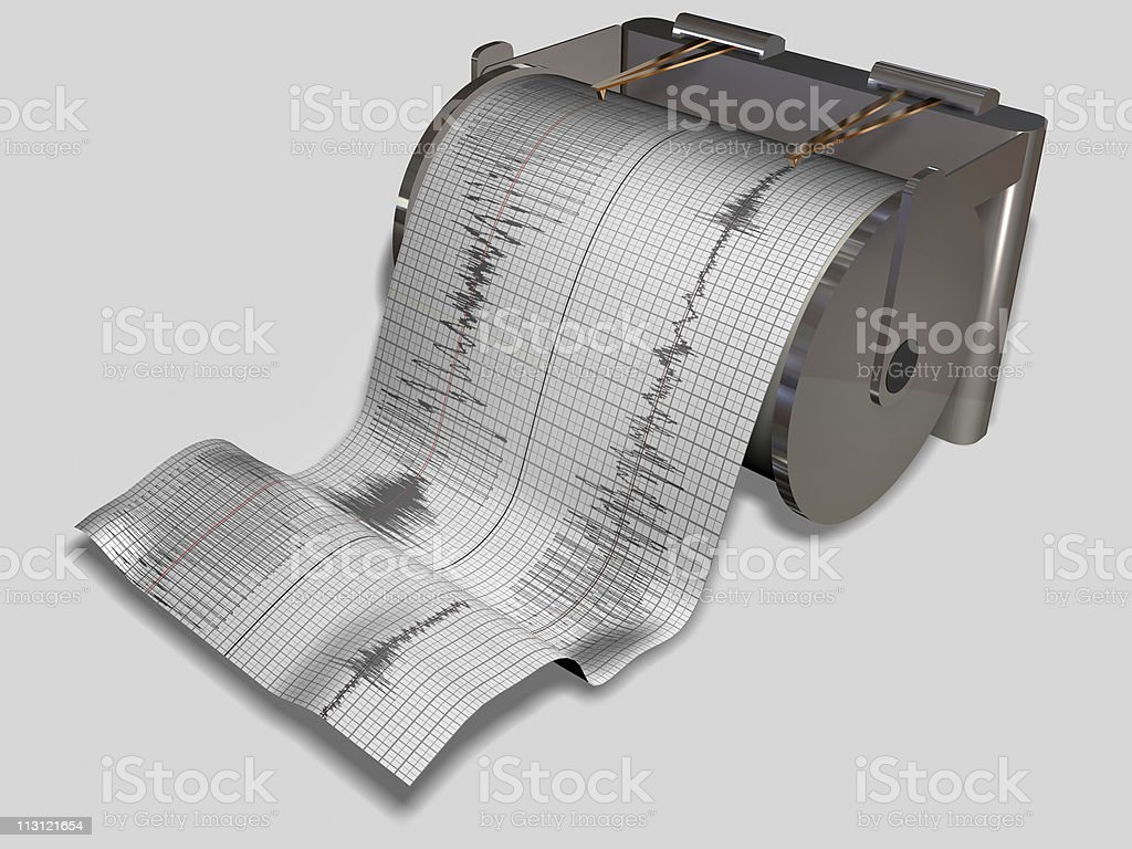 Seismograph Machine stock photo