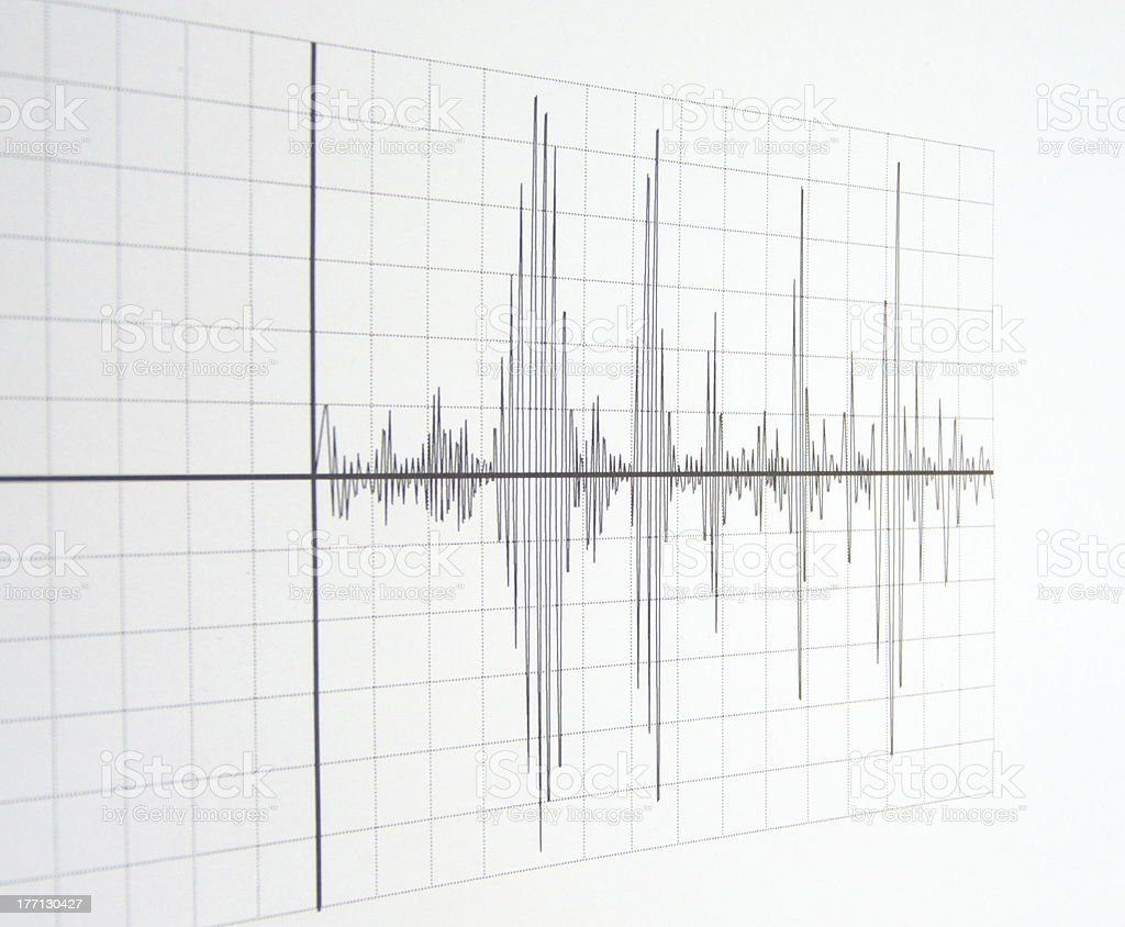 seismograph stock photo