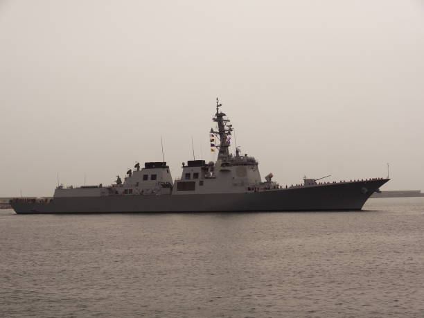 Sejong the Great, Korean Navy Aegis destroyer VH544 대한민국 해군 세종대왕함 aegis stock pictures, royalty-free photos & images