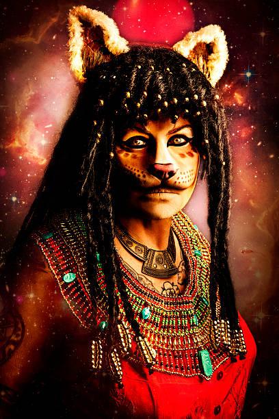 Sekhmet Egyptian Goddess stock photo
