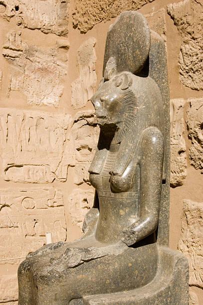 Sekhmet goddess statue stock photo
