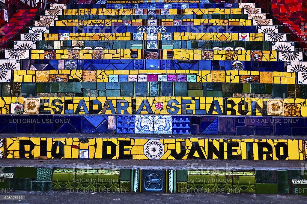 Selaron Stairs in Rio de Janeiro stock photo
