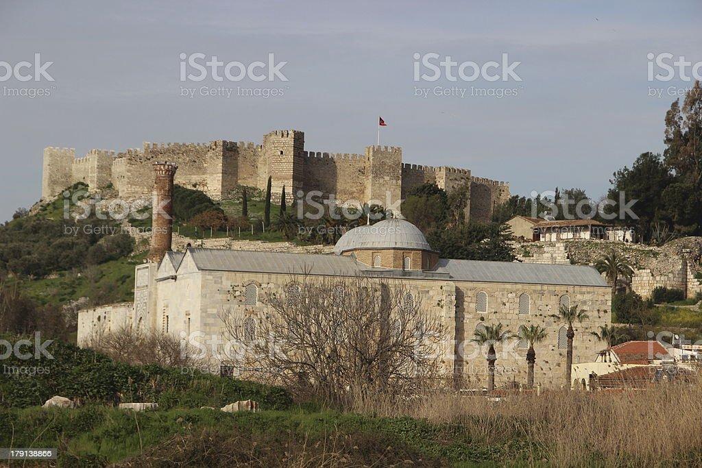 Selcuk Castle royalty-free stock photo