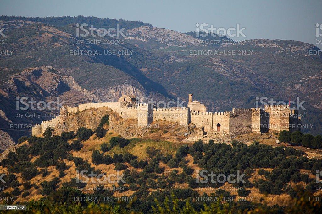 Selcuk castle stock photo
