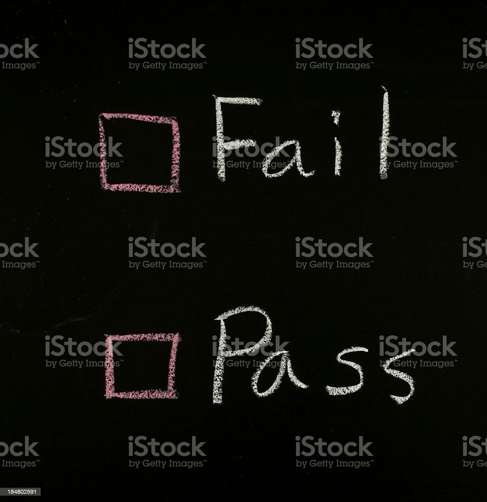 select fail or pass royalty-free stock photo