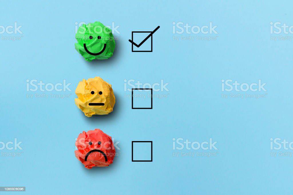 select happy on satisfaction evaluation royalty-free stock photo