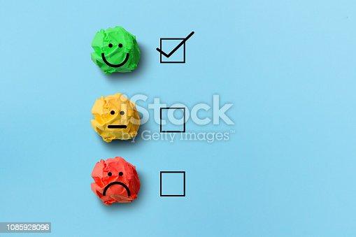 istock select happy on satisfaction evaluation 1085928096