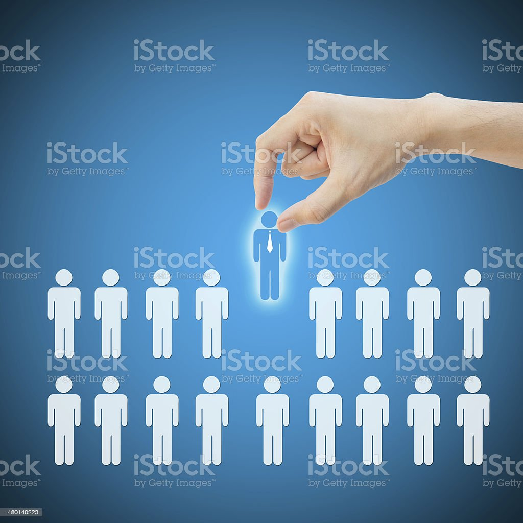 Select leader person career to work job stock photo
