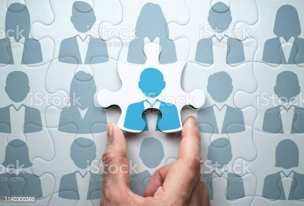Selecting Person And Building Team Business People Relationship Concept - Fotografias de stock e mais imagens de Adulto