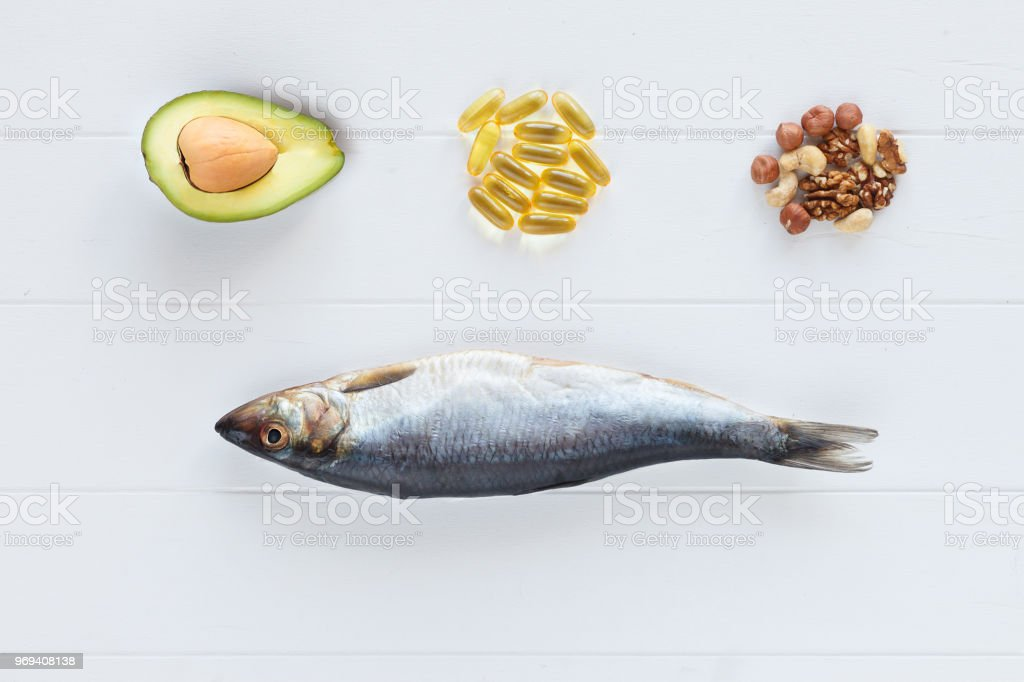 Selection Food sources of omega 3 and healthy fats. Healthy diet food...
