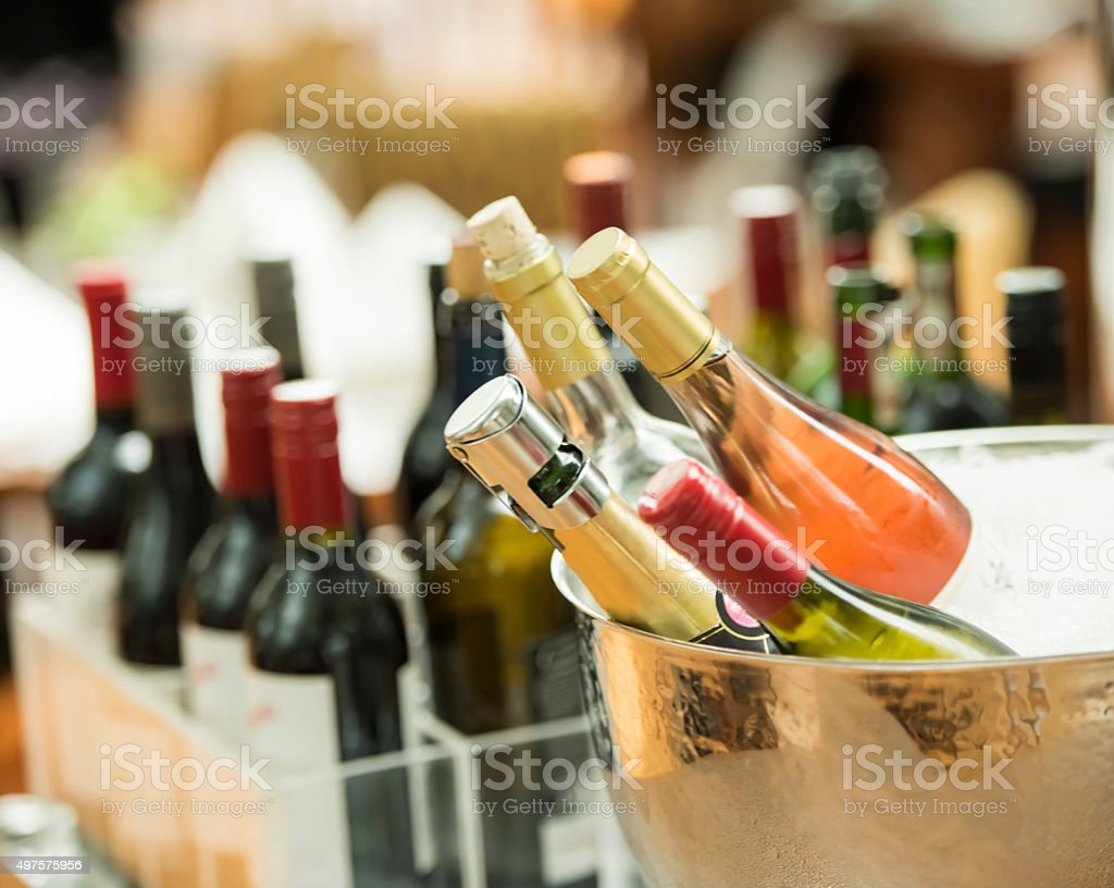 Selection of Alcohol stock photo