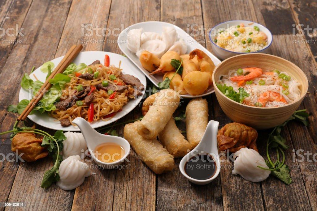 selección de alimentos de asia - foto de stock