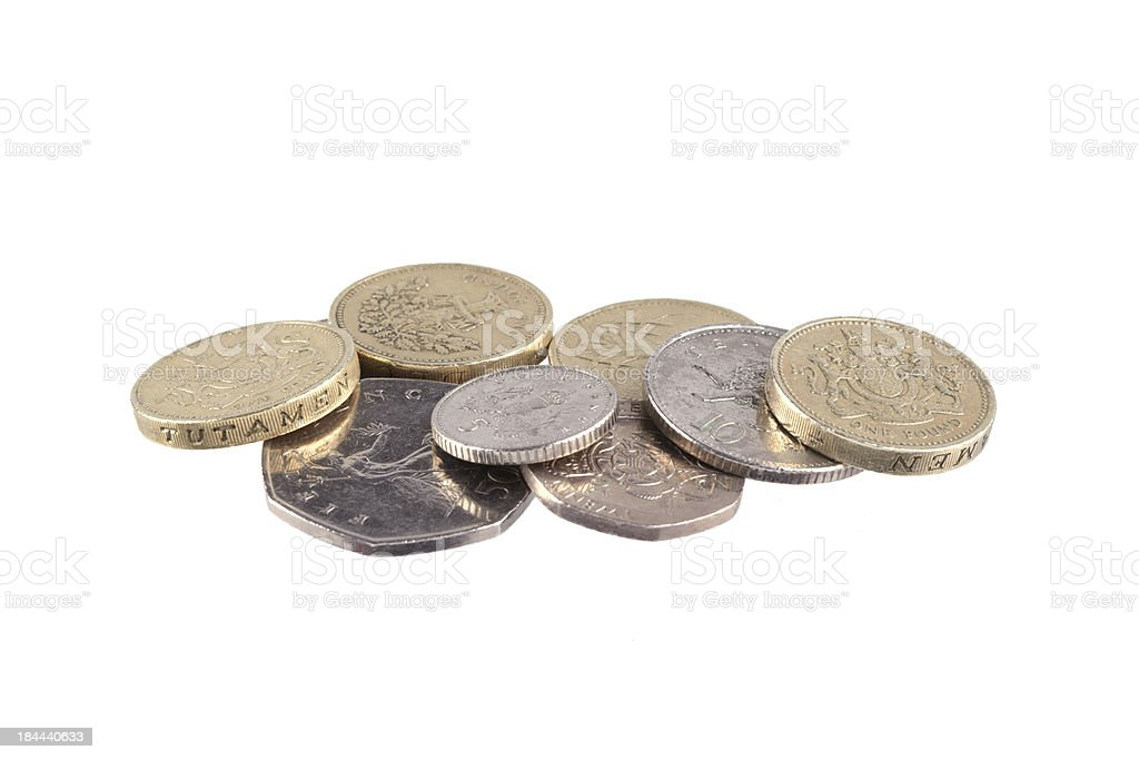 Selection Of British Coins stock photo