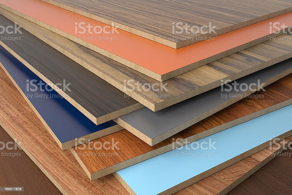 A selection of CPD in various shades without a PVC edge stock photo